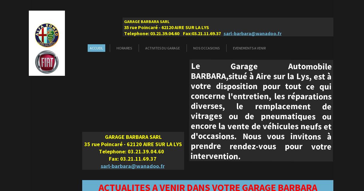 Garage barbara roger et paul accueil nouveautes for Garage automobile hazebrouck